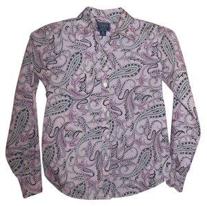Chaps Long Sleeve Button Down Button Down Shirt pink