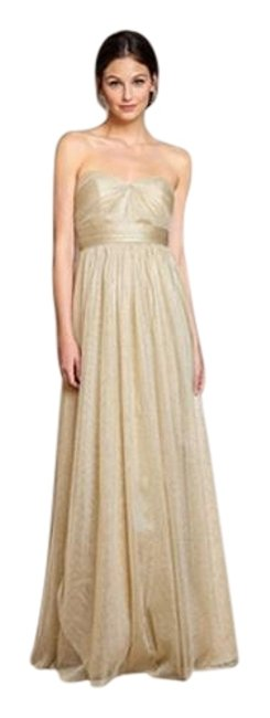Item - Gold Great Condition Annabelle Convertible Tulle Column Long Formal Dress Size 6 (S)