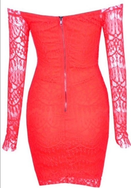 Indie short dress Bright red on Tradesy