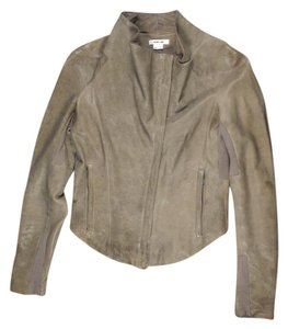 Helmut Lang Lambskin Silk Motorcycle Tan Jacket
