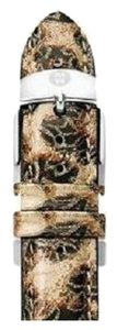 Michele Michele MS20AB350211 20mm Brown Cheetah Patent Leather Watch Band