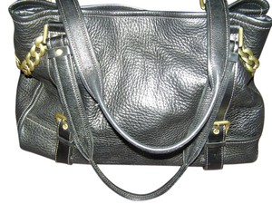 Kenneth Cole Overnighter Leather Satchel in Black