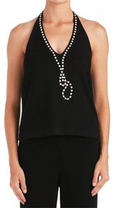 St. John 12396 Black Halter Top