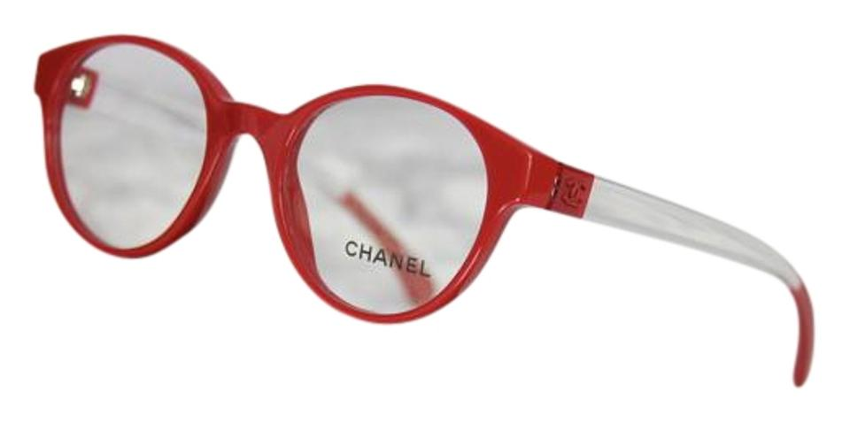 606f2496faa2b Chanel Chanel 3273 Red Clear Cat Eye Optical Eyeglasses Frames Image 0 ...