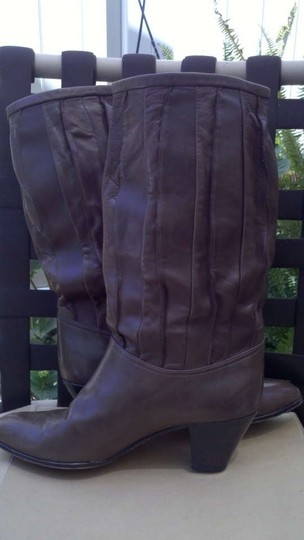 Adriano Fosi Vintage Pleated Soft Leather Brown Boots