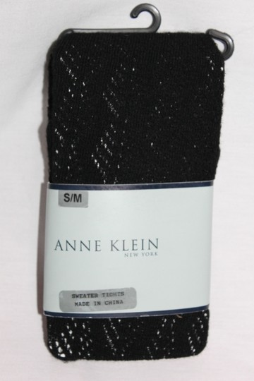 Anne Klein New Size Small - Medium Anne Klein New York Black Sweater Tights