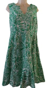 George short dress Green and White on Tradesy