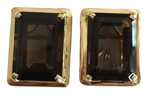Other 14k Yellow Gold Smokey Quartz Earrings