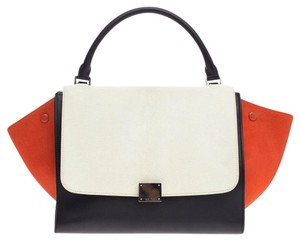 Céline Pony Hair Tote in White and Red