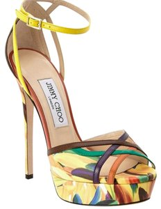 Jimmy Choo Sandal Spice/Red Yellow Green Pumps