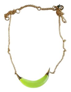 Alexis Bittar Crescent Lucite Capped Necklace