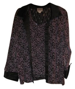 R&M DESIGN PURPLE AND BLACK WITH SEQUINS Jacket