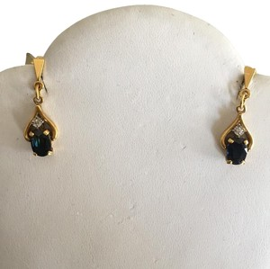 Other 18k Sapphire Diamond Dangle Earrings