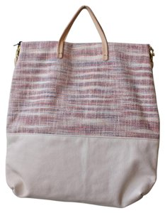 Clare V. Leather Tote in Ivory