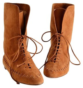 Manolo Blahnik Winter Boot Style Artsy brown Boots