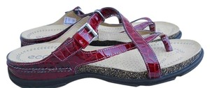 Ecco Sandal Living Thong Maroon, Red Sandals