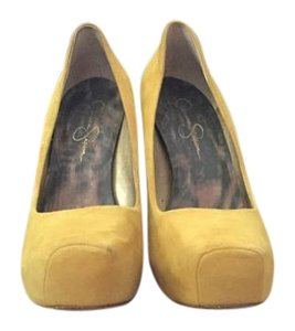 Jessica Simpson Suede Yellow Platforms