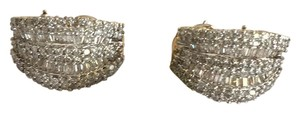3.5 Cts Diamond & 14k Gold Earrings