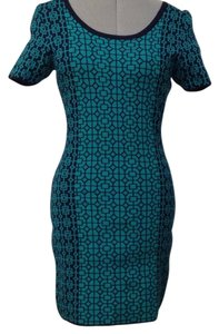 Romeo & Juliet Couture short dress Navy and greenish turquoise on Tradesy