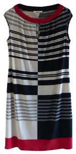 London Times short dress White with black stripes on Tradesy