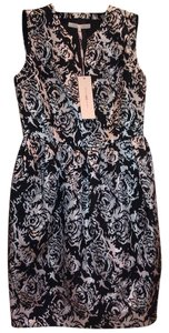 Halston Cocktail Floral Print Dress