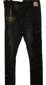 AMANDA ADAM COUTURE Relaxed Fit Jeans-Distressed