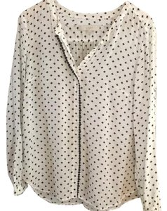 Ann Taylor LOFT Top Black/white