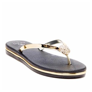 Dizzy Gold, Black Sandals