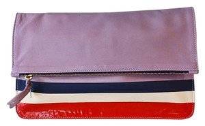 Clare V. Leather Purple Clutch