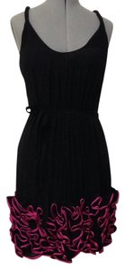 Yoana Baraschi short dress Black and hot pink on Tradesy