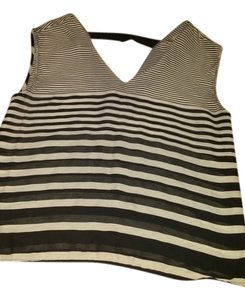 Forever 21 Black And White Stripped 21 Top black/ cream