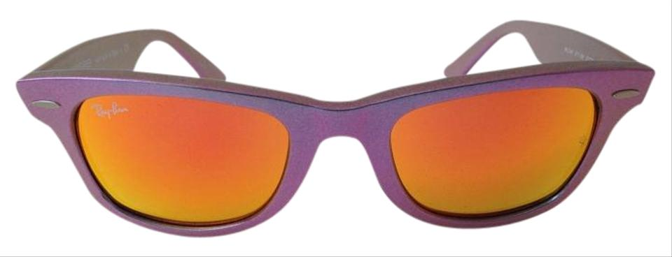 8a61326bc6010 Ray-Ban Purple Orange Wayfarer Cosmo Collection Saturn Rb2140 Sunglasses