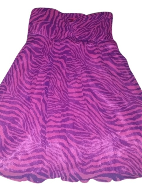 Express Zebra Party Dress