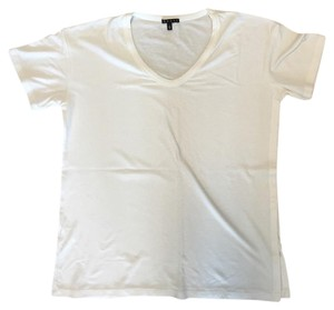 Theory Knit Basic Minimalist T Shirt White