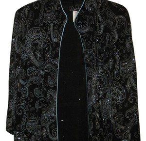 Alex Evenings Evening BLACK AND TURQUIOSE Jacket