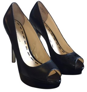 Enzo Angiolini Black Leather Platforms