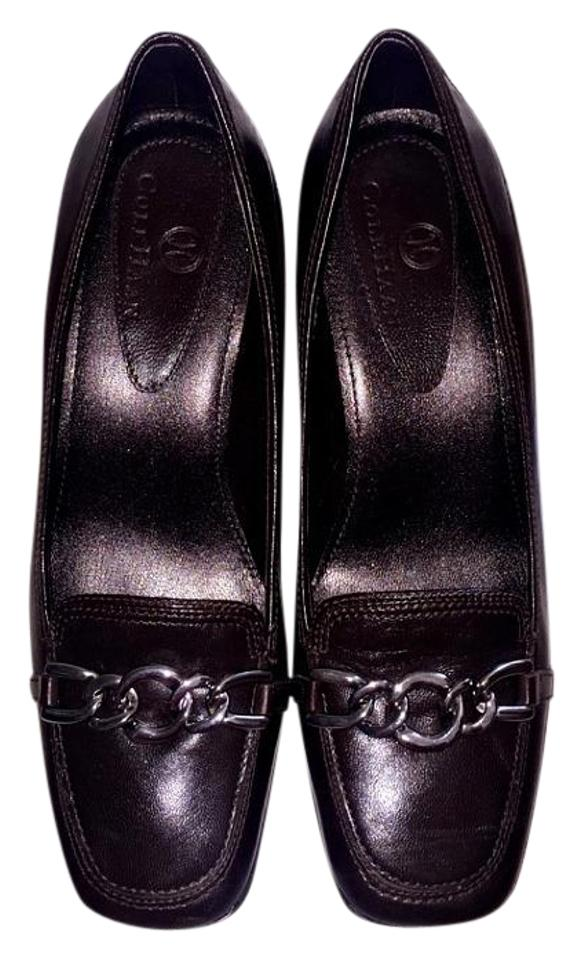 dbbf9d139ac Cole Haan Black Womens Leather Loafer with Chain Flats Size US 5 ...