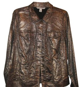 Jones New York Casual BRONZE BROWN WITH DESIGN SIMILAR TO SNAKE SKINB Blazer