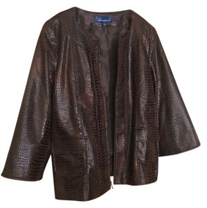 Susan Graver brown Blazer