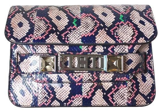 Preload https://item5.tradesy.com/images/proenza-schouler-ps11-mini-classic-india-ayers-navy-and-pink-snakeskin-shoulder-bag-18157219-0-1.jpg?width=440&height=440