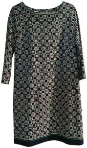 Talbots short dress navy blue and green on Tradesy