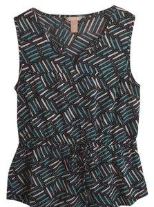 Banana Republic Top Black/turquoise/white