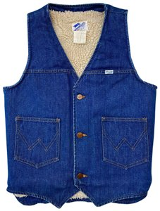 Wrangler Vintage Denim Sherpa Fleece Vest