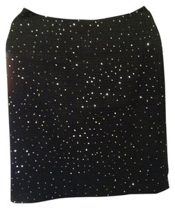 ANN TAYLOR Sequined Pencil Skirt black