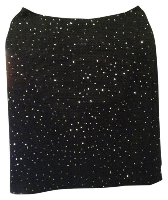 ANN TAYLOR Sequined Pencil Suit Seperate Skirt black