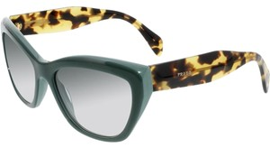 Prada Prada PR02QS-TF01E0 Women's Green Frame 56mm Sunglasses New In Box
