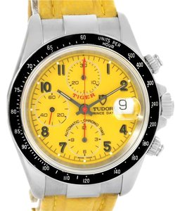 Tudor Tudor Tiger Prince Date Yellow Dial Stainless Steel Mens Watch 79260