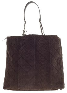 Chanel Python Exotic Tote in Brown