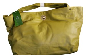 Kate Spade Pxru1909 Leather Sutton Place Celedon (378) Satchel in Yellow