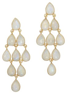 Other 14 Karat Gold Plated Moonstone Earrings